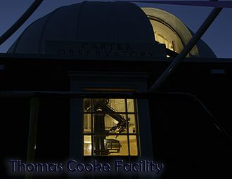 Thomas Cooke (machinist) - Thomas Cooke telescope at Carter Observatory, in Wellington, New Zealand