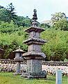 Three-story Stone Pagoda at Baekjangam of Silsangsa Temple in Namwon, Korea 01.jpg