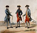 Three French army generals of Louis XVI in military dress, Wellcome V0015735.jpg