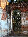Through a doorway in the ruins of Old Sheldon Church.JPG