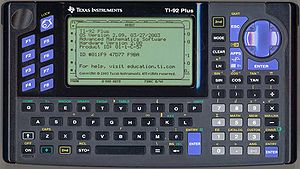 TI-92 series - Image: Ti 92plus