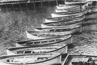 Changes in safety practices after the sinking of the RMS Titanic - Image: Titanic life boats recovered