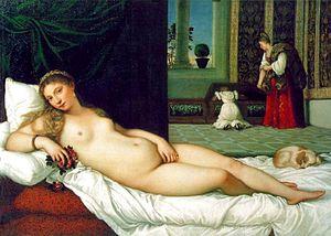 Sleeping Venus (Giorgione) - Image: Titian Venus of Urbino