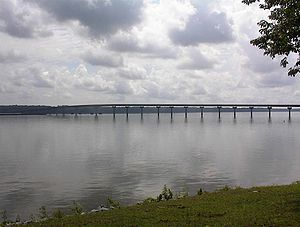 Tennessee River - Natchez Trace Parkway, crossing the Tennessee River in Cherokee, Alabama