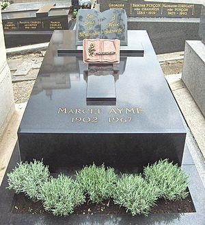 Marcel Aymé - Marcel Aymé's grave. Cimetière Saint-Vincent, Paris.