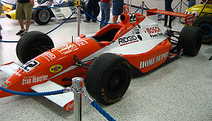 "Double Duty - Tony Stewart's 1999 Indy car used in his ""Double Duty"" attempt."