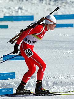 Tora Berger Norwegian biathlete