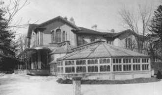 Alexandra Park, Toronto - Gzowski Hall at Alexandra Hall, 1896. A branch of the Toronto Public Library presently occupies the site of the Hall.