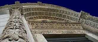 Pisa Baptistery - Baptistery portal