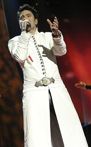 Toše Proeski - Proeski on the rehearsal of the Eurovision Song Contest 2004 held in Istanbul, Turkey.