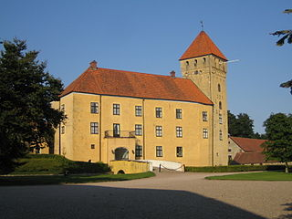 Tosterup Castle building in Tomelilla Municipality, Skåne County, Sweden