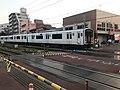 Train for Ebie Station near Kyushu Sangyo University.jpg