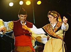 traditional Asturian dancers