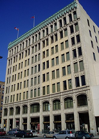 Transportation Building (Ottawa) - The Transportation Building at 10 Rideau Street