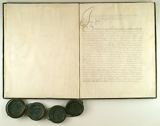Treaty of Oliwa 1660 - first page of the document