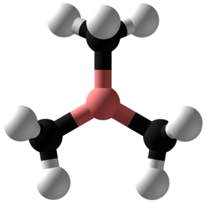 Trimethylborane - Image: Trimethylborane Ball and Stick