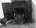 Troops coming out of a LST in Cape Gloucester.jpg