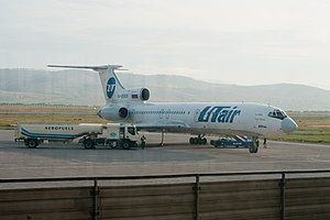 Baikal International Airport - UTair Tupolev Tu-154M at Baikal Airport.