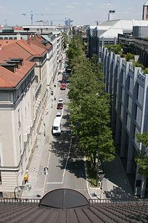 Türkenstraße Road in Munich, Germany