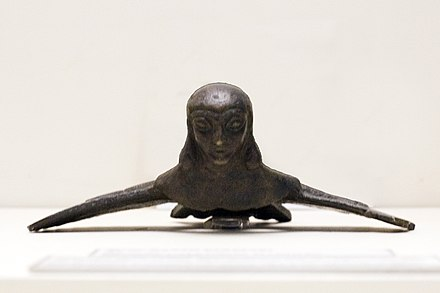 Bronze figurine of the winged goddess Tushpuea, with suspension hook Tushpuea01.jpg