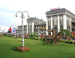 Thiruvananthapuram Central railway station - Thiruvananthapuram Central Station main building.