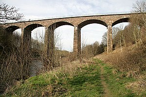The Kelso and Jedburgh railway branch lines - Twizel Viaduct