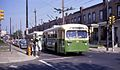 Two Phila. Brill trolleybuses at Tasker & 32nd, route 29, in 1968.jpg