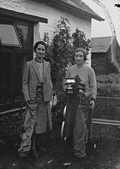 Two lady golfers with clubs