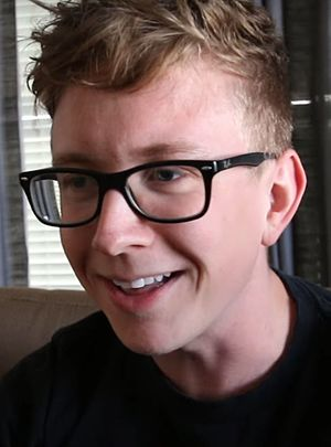 Tyler Oakley - Oakley appearing in a Vlogbrothers video in 2016.