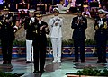 U.S. Army Gen. Martin Dempsey, the chairman of the Joint Chiefs of Staff, leads military service chiefs of staff in a round of applause honoring those who serve in the military during the National Memorial Day 130526-D-KC128-328.jpg
