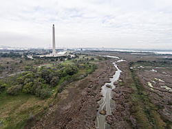 UAV view of the San Jacinto Battlefield site and Texas Monument.jpg