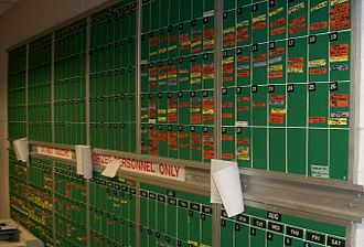 Union County College - Athletic event scheduling board.