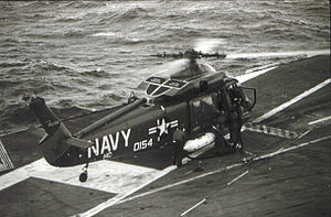 Kaman SH-2 Seasprite - A UH-2C aboard the USS Hancock between July 1968 and March 1969