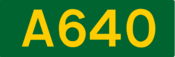 A640 road shield
