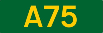 European route E05 - Image: UK road A75