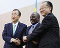 UN Secretary-General Ban Ki-moon, President Joseph Kabila of the DR Congo, and the President of the World Bank Group, Jim Yong Kim. (8781549173).jpg