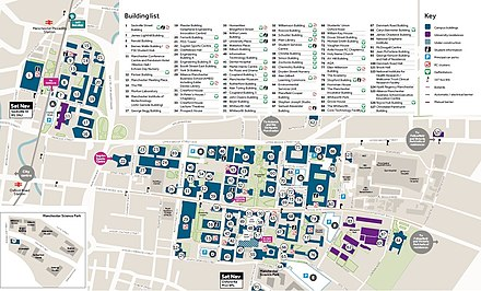 A map of the university campus, with all buildings labelled. UOMCampusmap.jpg