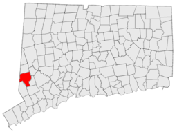 Geografiskt läge i Fairfield County i delstaten Connecticut