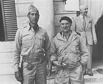 Alphonse Juin - Clark (left) and Juin (right) in Siena, Italy, July 1944.