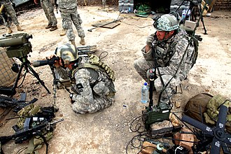 Joint terminal attack controller - USAF TACP JTACs provide over watch and call in air support at Contingency Operating Post Jaghato, Afghanistan, May 1, 2010.