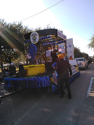 Sikhism in the United States - Sikhs of America parade float at the 2016 Martin Luther King Day parade in Midtown Houston