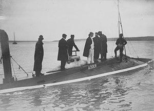 Adder running trials in Long Island Sound, 1903
