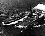 USS Navasota (AO-106) refuels USS Hancock (CVA-19), in 1963.jpg