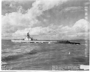 USS Puffer (SS-268) underway off Mare Island, California, on 10 November 1944.