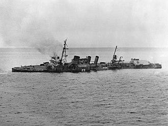 USS Stewart (DD-224) - DD-224 sinking after use as a target ship