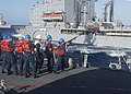 USS Stout conducts a replenishment-at-sea. (10210553913).jpg