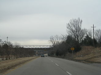 U.S. Route 62 in Oklahoma - U.S. Highway 62 just east of Okmulgee