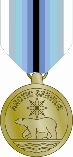 Coast Guard Arctic Service Medal - Image: US Coast Guard Arctic Service Medal