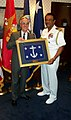 US Navy 020821-N-1928O-003 SECNAV presents a SECNAV flag.jpg