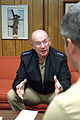 US Navy 040106-N-1963C-013 Adm. Vern Clark, Chief of Naval Operations (CNO) outlines his vision for 2004 Accelerating our Advantages during a visit to facilities and units in Navy Region South.jpg